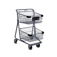 چرخ خرید فروشگاهی دو طبقه